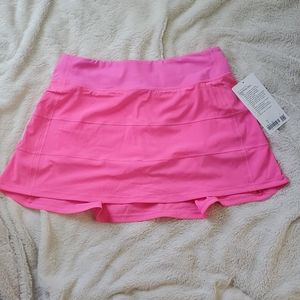 NWT Lululemon Pink Pace Rival Skirt 6